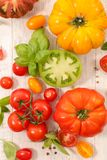 Different sort of tomatoes. Different sort of fresh tomatoes Royalty Free Stock Photos