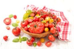 Different sort of tomatoes. Studio shot Stock Photo