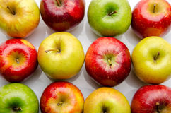 Different sorts of apples stock image