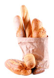 Different sorts of bread Royalty Free Stock Images