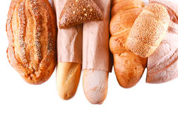 Different sorts of bread Stock Images