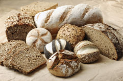 Different sorts of Bread Royalty Free Stock Image