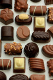 Different sorts of chocolates Royalty Free Stock Photography