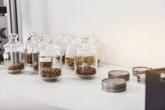Different sorts of coffee beans Stock Photo