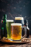 Different sorts of craft beer Stock Photos