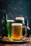 Different sorts of craft beer Royalty Free Stock Image