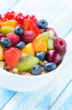 Different sorts of fruit ,berry and flakes. Stock Image