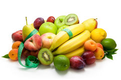 Different sorts of  fruit healthy food Royalty Free Stock Photography