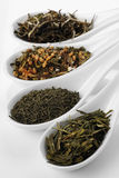 Different sorts of green tea Stock Image