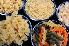 Different sorts of pasta. As food concept Royalty Free Stock Image