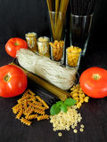 Different sorts of pasta Royalty Free Stock Photography