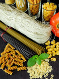 Different sorts of pasta Royalty Free Stock Image