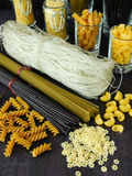 Different sorts of pasta Royalty Free Stock Photo