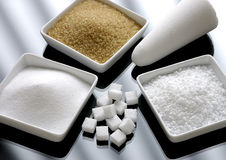 Different sorts of sugar Royalty Free Stock Photography