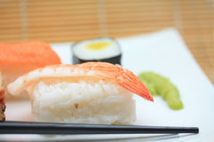 Different sorts of sushi Stock Photos