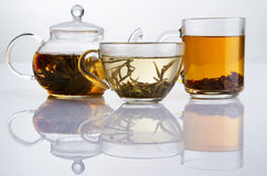 Different sorts of tea. Black, green and white Stock Photo
