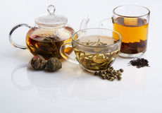 Different sorts of tea. Black, green and white Royalty Free Stock Photography