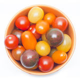 Different sorts of tomatoes. stock photography