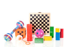 Different sorts of toys Royalty Free Stock Photo