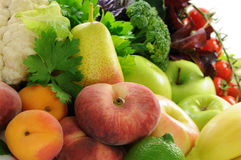 Different sorts of vegetables and fruit. Different sorts of vegetables, fruit and spicy herbs Stock Photography