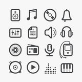 Different sound icons set Stock Photo