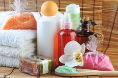Different spa accessory Royalty Free Stock Image