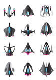 Different spaceships in flight Stock Images