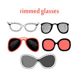 Different spectacle frames Royalty Free Stock Photography