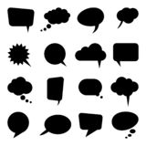 Different speech bubbles collection. Collection of different speech bubbles and thought bubbles with space for text communication counterargument opinions vector illustration