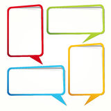 Different speech bubbles to your messages. Royalty Free Stock Photos