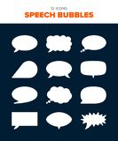 12 speech bubbles royalty free illustration