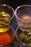 Different spice in glass Stock Photography