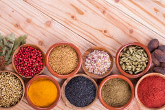 Different  spices Royalty Free Stock Photography