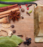 Different spices and herbs Stock Photos