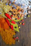 Different Spices and herbs Royalty Free Stock Images