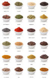 Different spices  on white background. Stock Photos