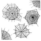 Different Spider Web Set. Vector Royalty Free Stock Image