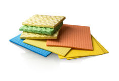 Different Sponge Washcloth Royalty Free Stock Images
