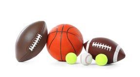Different sport balls. On white background stock photo