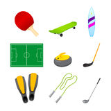 Different sport items icon Stock Image