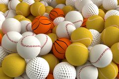 Different Sports Balls Royalty Free Stock Photography
