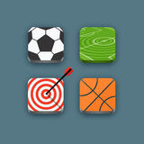 Different sports icons set Royalty Free Stock Photo