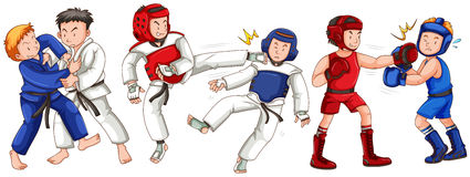 Different sports for martial arts Royalty Free Stock Images