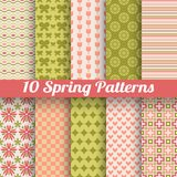 Different spring vector patterns. Romantic chic texture Royalty Free Stock Image