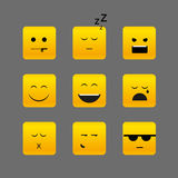 Different square emotion faces Stock Photos