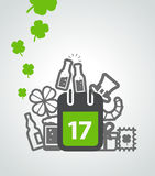 Different St Patricks Day symbols Stock Photography