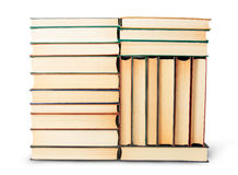 Different stack of old books Royalty Free Stock Image
