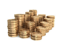 Different stacks of coins Royalty Free Stock Images