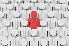 Different - standing out from the crowd Royalty Free Stock Photos