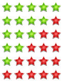 Different star rating sign Stock Images